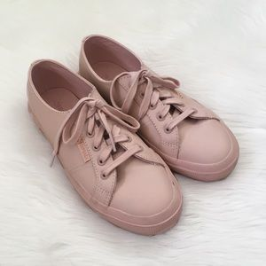 Superga Light Pink 2750 Leather Sneakers